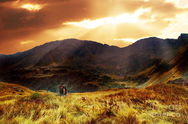 High Tatras Wall Art - Photograph - Sunset Landscape At The Moutains by Michal Bednarek