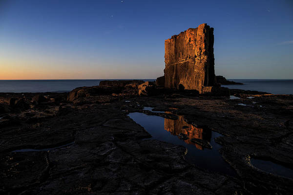 Devonport Wall Art - Photograph - Sunset Lighting Up Volcanic Rock by Heath Holden