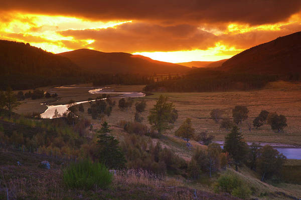 Braemar Photograph - Sunset, Linn Of Dee by Dennis Barnes
