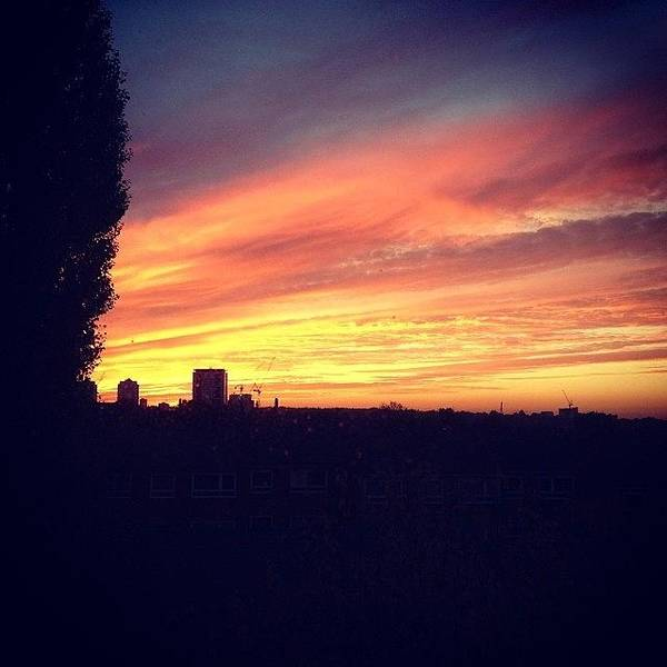 #sunset #london #skyline Art Print
