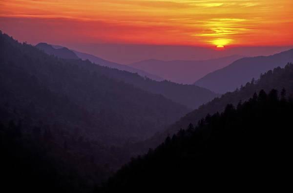 Photograph - Sunset Morton Overlook by Jim Dollar