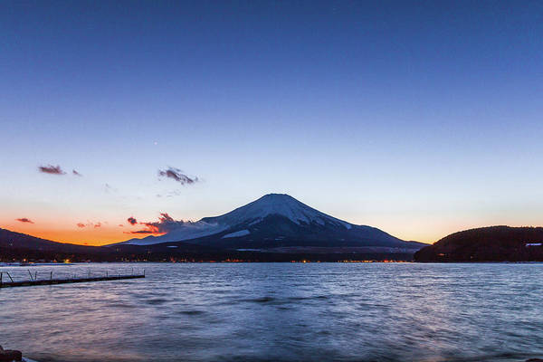 Active Volcano Photograph - Sunset Mt. Fuji by Daisuke Tashiro