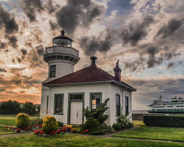 Puget Sound Photograph - Sunset Mukilteo Lighthouse by Puget  Exposure