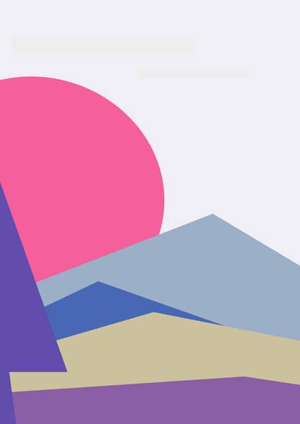 Digital Art - Sunset Nature Minimalistic Landscape by IamLoudness Studio