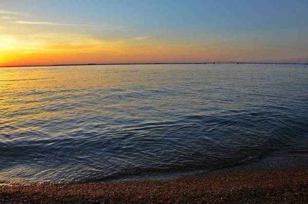 Photograph - Sunset Near Chesapeake Bay Bridge by Marianna Mills