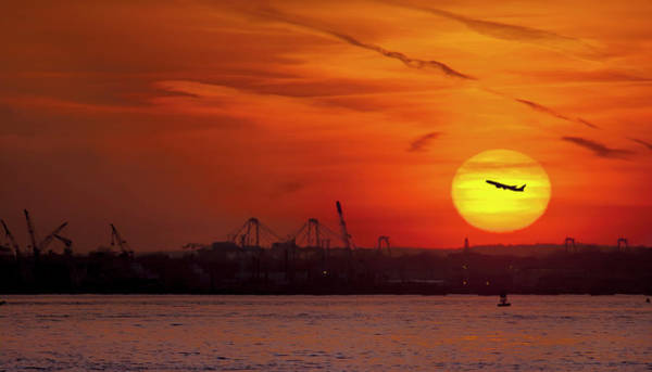 Wall Art - Photograph - Sunset: New York Harbor by Michael Castellano
