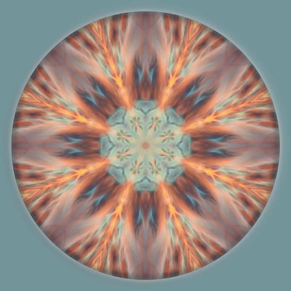 Digital Art - Sunset Of Fire Mandala 1 by Beth Sawickie