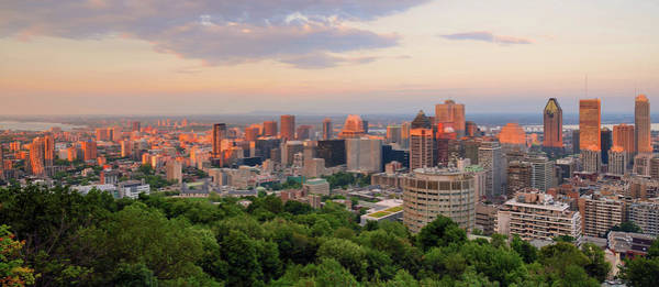 Quebec City Photograph - Sunset Of Montreal by Wei Fang