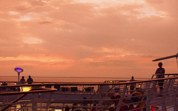 Photograph - Sunset Off Cozumel by John M Bailey
