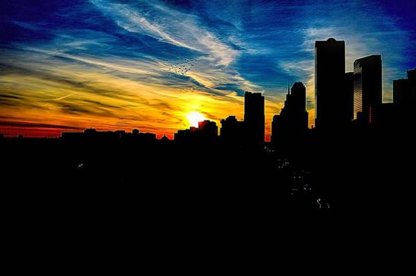 Photograph - Sunset Off I-45 Dallas Texas by Diana Mary Sharpton