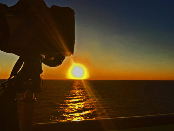 Photograph - Sunset Off Miami by Pat Moore
