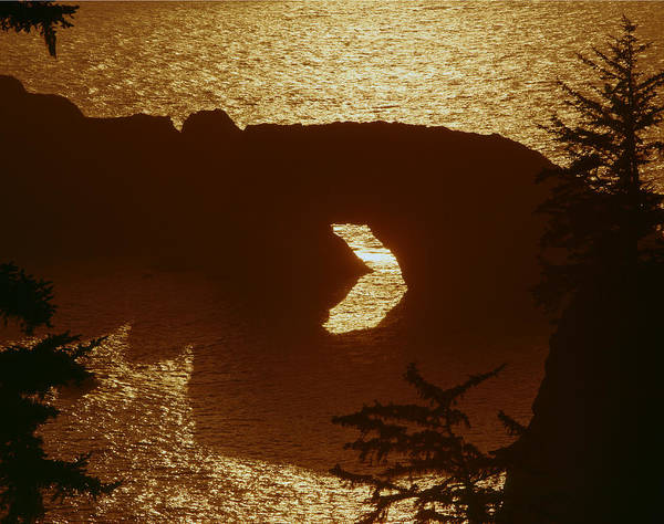 Photograph - 1a5439-sunset On Arch Rock  by Ed  Cooper Photography