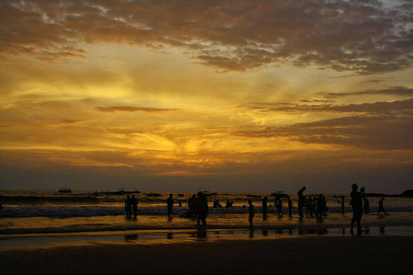 Photograph - Sunset On Baga Beach by Arkamitra Roy