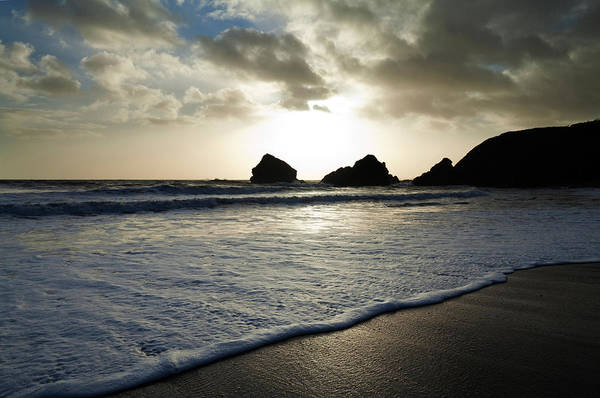 County Waterford Photograph - Sunset On Ballydowane Beach, Bunmahon by Panoramic Images