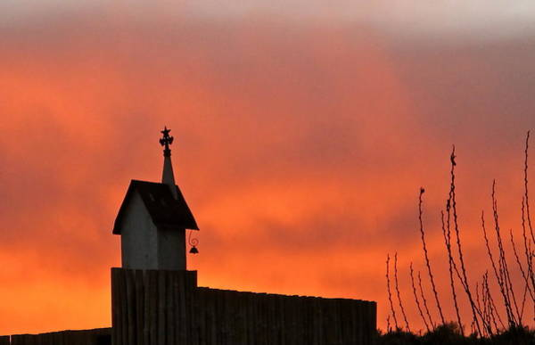Photograph - Sunset On Birdhouse by Kim Pippinger