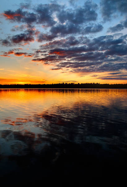 Photograph - Sunset On Black Lake Near Perth Ontario. by Rob Huntley