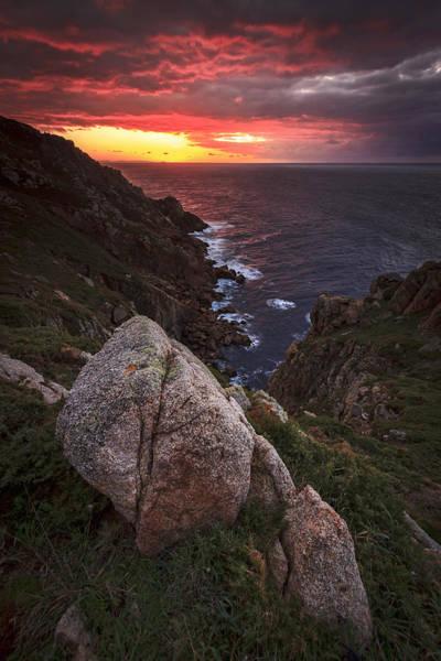 Photograph - Sunset On Cape Prior Galicia Spain by Pablo Avanzini