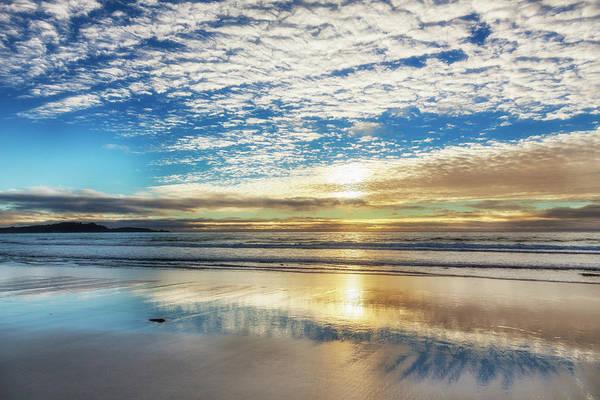 Sun Photograph - Sunset On Carmel Beach, California by Alvis Upitis