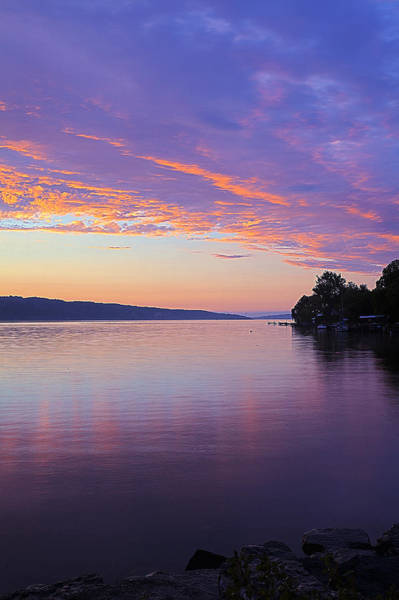 Wall Art - Photograph - Sunset On Cayuga Lake Cornell Sailing Center Ithaca New York IIi by Paul Ge