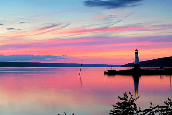 Wall Art - Photograph - Sunset On Cayuga Lake Ithaca New York by Paul Ge