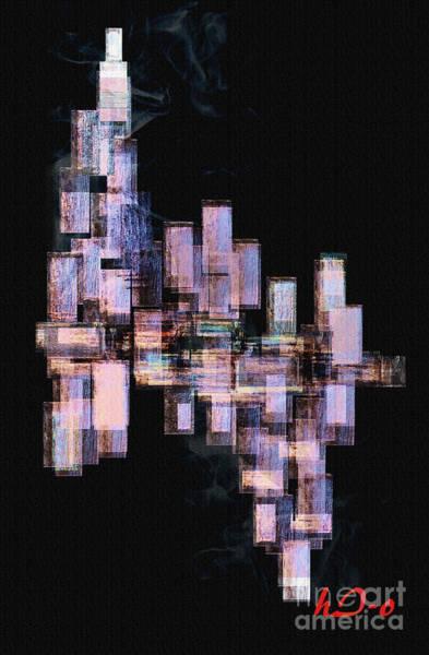 Exhaust Digital Art - Sunset On City Embers by Ha Imako