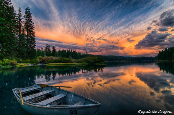 End Of Summer Photograph - Sunset On Clear Lake by Exquisite Oregon