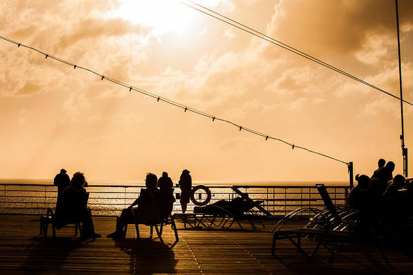 Photograph - Sunset On Deck by Melinda Ledsome