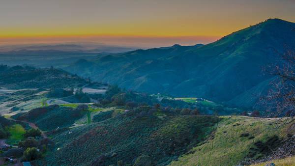 Photograph - Sunset On Figueroa Mountain by Paul Johnson