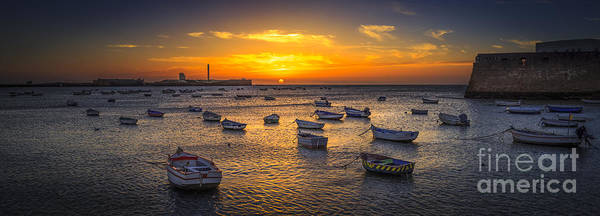 Photograph - Sunset On La Caleta Beach Cadiz Spain by Pablo Avanzini