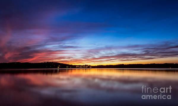 Photograph - Sunset On Lake Sidney Lanier by Bernd Laeschke