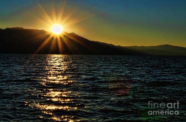 Photograph - Sunset On Lake Tahoe By Diana Sainz by Diana Raquel Sainz