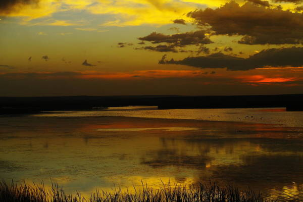 North Dakota Photograph - Sunset On Medicine Lake by Jeff Swan
