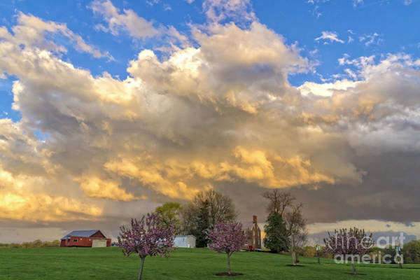 Wall Art - Photograph - Sunset On Mixed Clouds by William Kuta