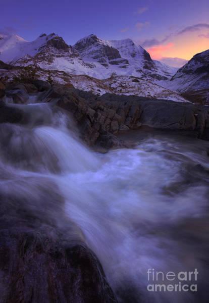 Photograph - Sunset On Mount Andromeda by Dan Jurak