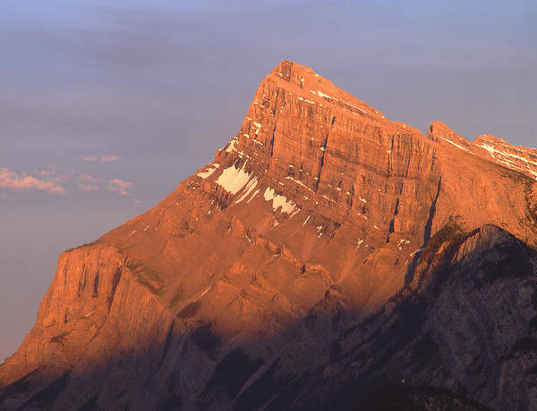 Photograph - 1m3308-sunset On Mt. Rundle by Ed  Cooper Photography