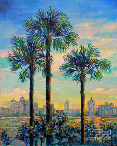 Wall Art - Painting - Sunset On Sarasota Bay by Lou Ann Bagnall