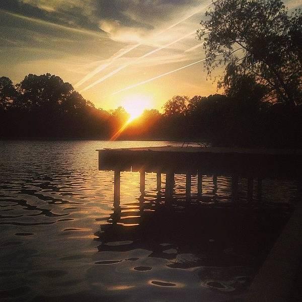 Wall Art - Photograph - Sunset On Scooter Lake #iphone5 by Scott Pellegrin