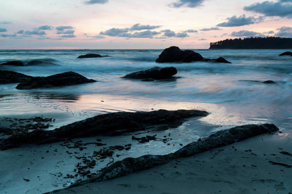 Wall Art - Photograph - Sunset On Second Beach, Olympic by Deb Garside