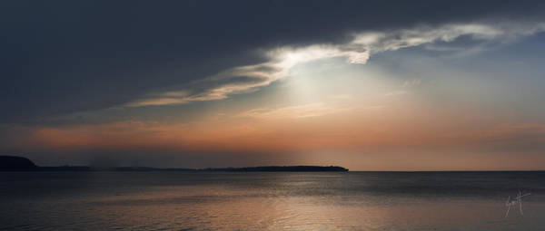 Photograph - Sunset On Sturgeon Bay - Signed by Barbara Smith