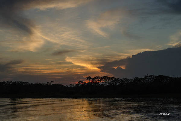 Photograph - Sunset On The Amazon 2 by Allen Sheffield