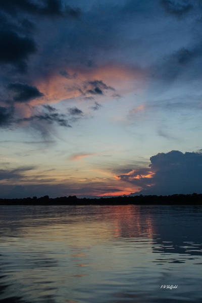 Photograph - Sunset On The Amazon 3 by Allen Sheffield