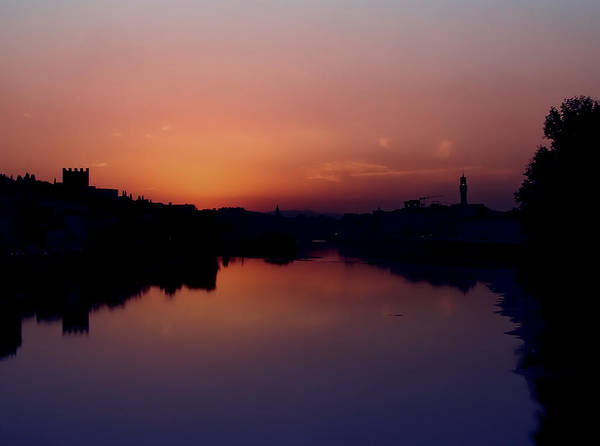 Photograph - Sunset On The Arno by Lucinda Walter