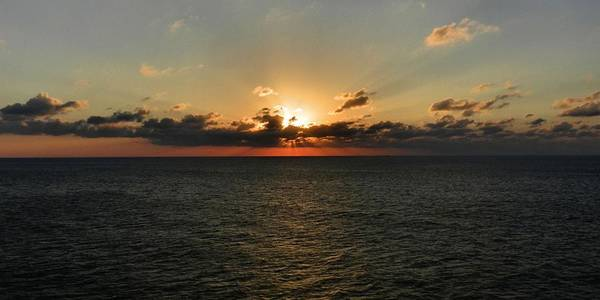 Photograph - Sunset On The Atlantic 002 by Lance Vaughn