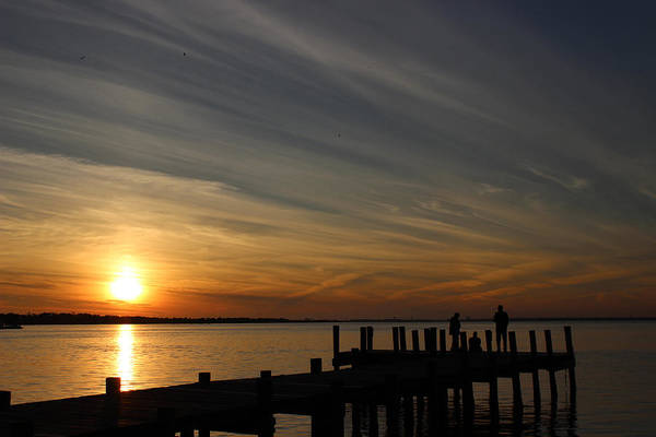 Choctawhatchee Bay Photograph - Sunset On The Bay by Dajana Haggard