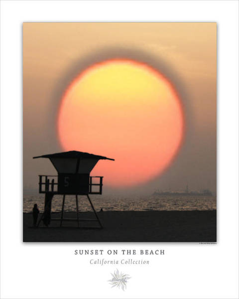 Photograph - Sunset On The Beach Art Poster - California Collection by Ben and Raisa Gertsberg