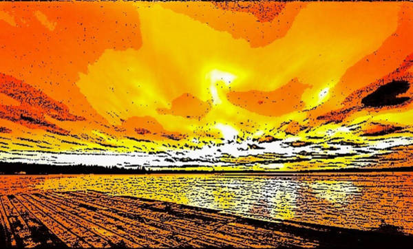 Digital Art - Sunset On The Beach by Karen Buford