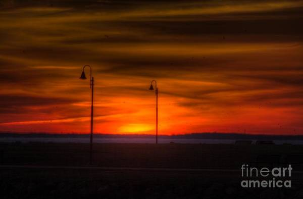 Photograph - Sunset On The Boardwalk by Jim Lepard