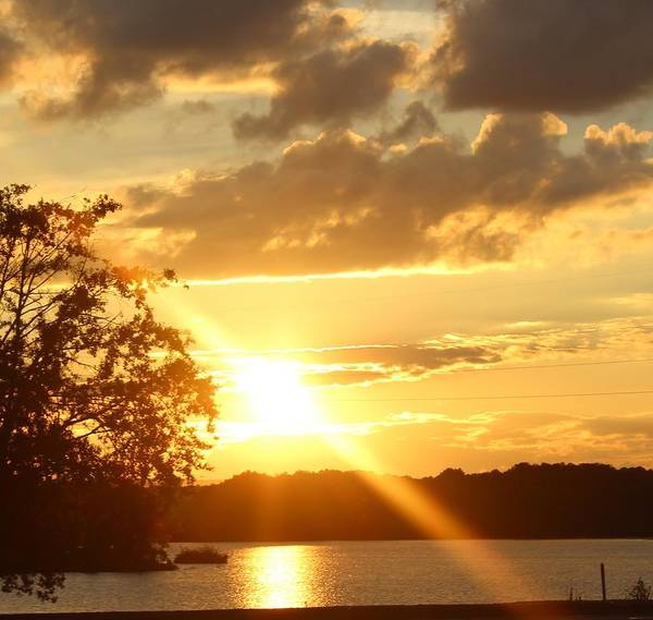 Coosa River Photograph - Sunset On The Coosa by Laura Copeland
