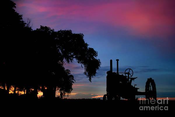Photograph - Sunset On The Farm by E B Schmidt