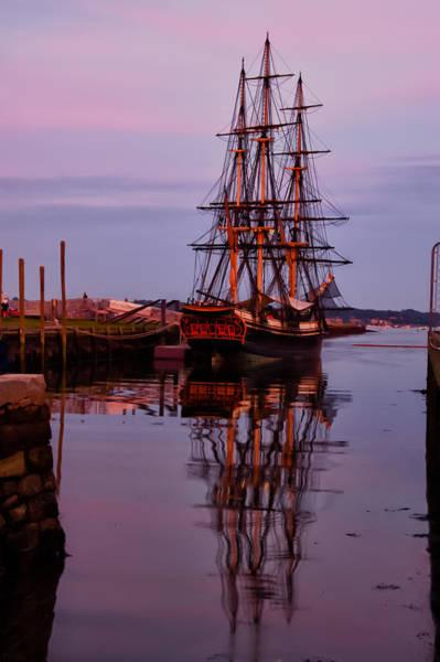 Photograph - Sunset On The Friendship Of Salem by Jeff Folger